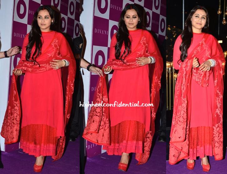 Rani Mukherjee In Sabyasachi At Diva'Ni Store Launch-2