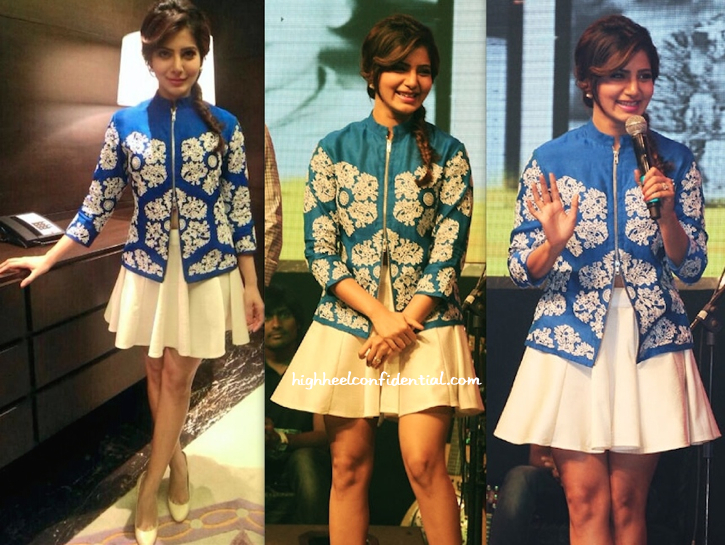 Samantha In Rahul Mishra At 'Manam' Audio Launch