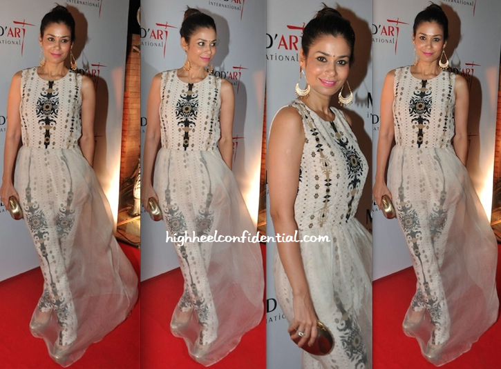 Shaheen Abbas In Payal Singhal At Mod'Art Fashion Show