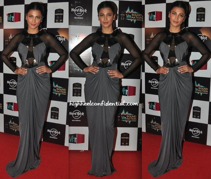 Shruti Haasan At VH1 Sound Nation Awards In Amit Aggarwal