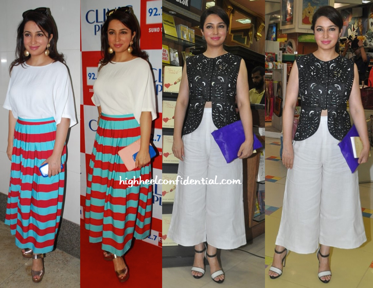 Tisca Chopra In Masaba At A Radio Feature Film Launch And At Kiran Manral's Book Launch-2