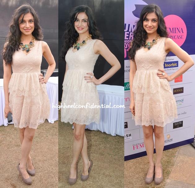 divya khosla kumar at femina showcase event