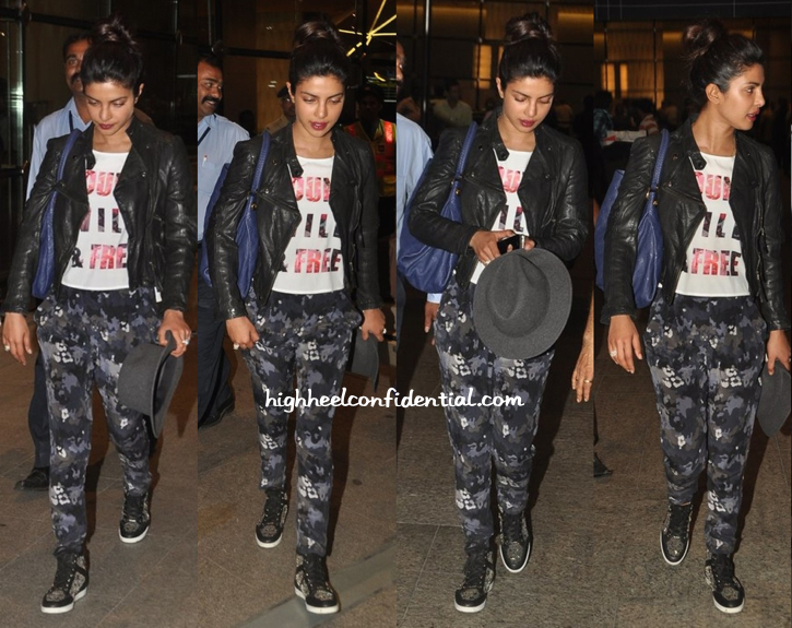 priyanka chopra photographed in bombay airport-may 2014