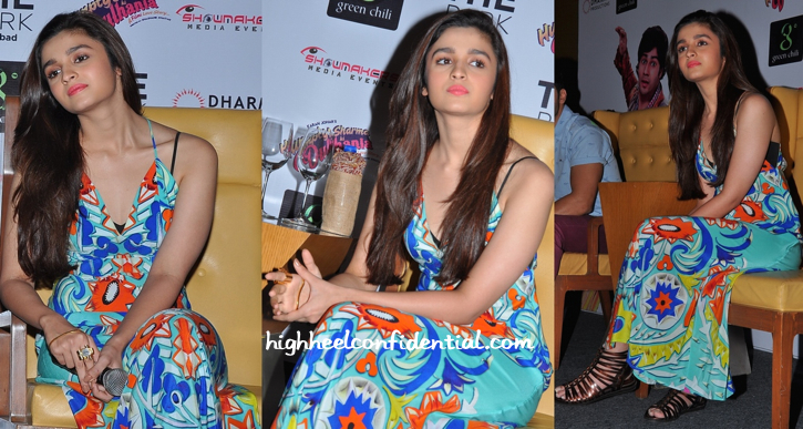 Alia Bhatt In Turquoise And Gold At Humpty Sharma Ki Dulhania Promotions In Hyderabad-2