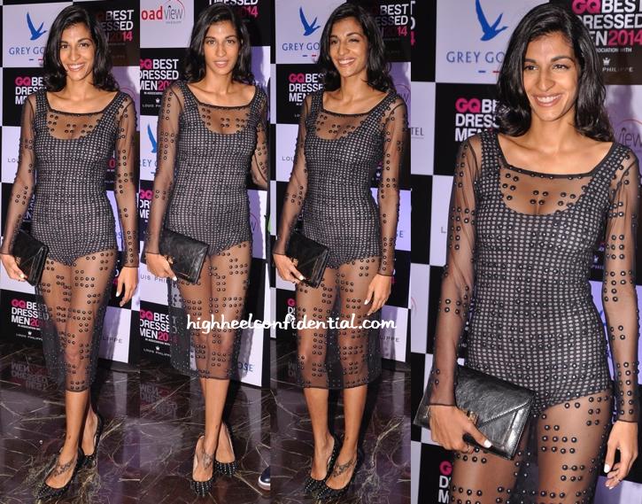 Anushka Manchanda In Anand Bhushan At GQ Best Dressed Men 2014