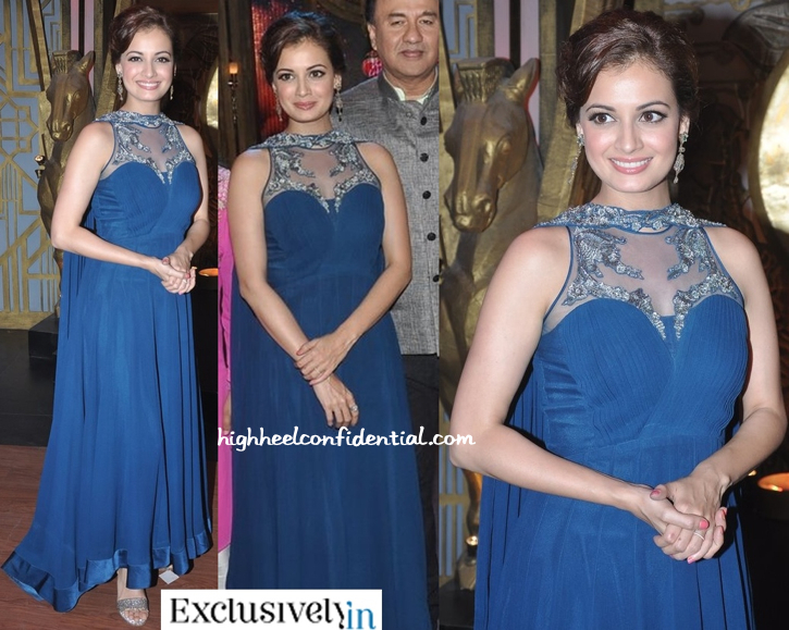 Dia Mirza In Gaurav Gupta On The Sets Of 'Entertainment Ke Liye...' For 'Bobby Jasoos' Promotions-2