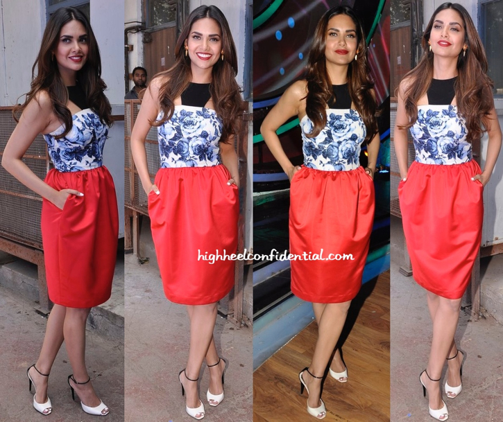Esha Gupta In Atsu On 'DID' Sets For 'Humshakals' Promotions