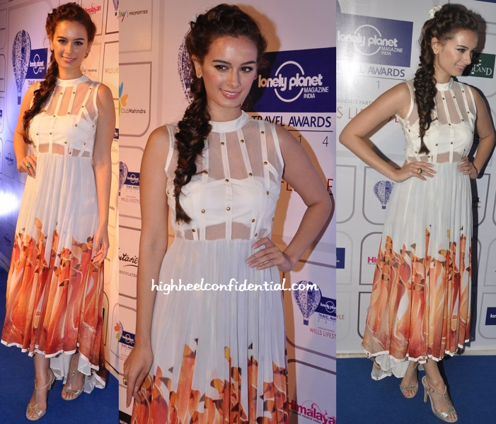 Evelyn Sharma In Farah Sanjana At Lonely Planet Awards-2