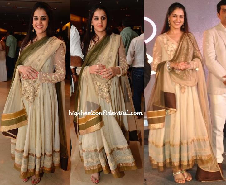 Genelia D'Souza In Neeta Lulla At 'Lai Bhari' Film Launch-1