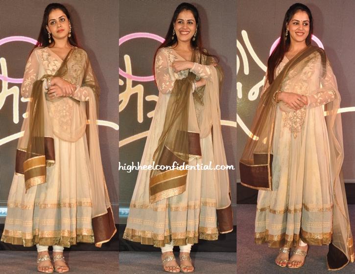 Genelia D'Souza In Neeta Lulla At 'Lai Bhari' Film Launch-2