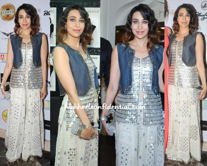 Karisma Kapoor In Kanika Kedia At A Jewelry Exhibition (Glamour South Mumbai 2014)-2
