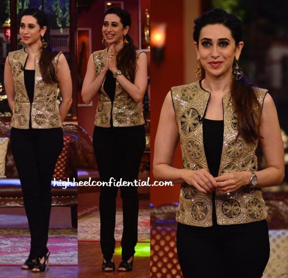 Karisma Kapoor In Ritika Mirchandani And Mrinalini Chandra On Comedy Nights With Kapil Sets-2