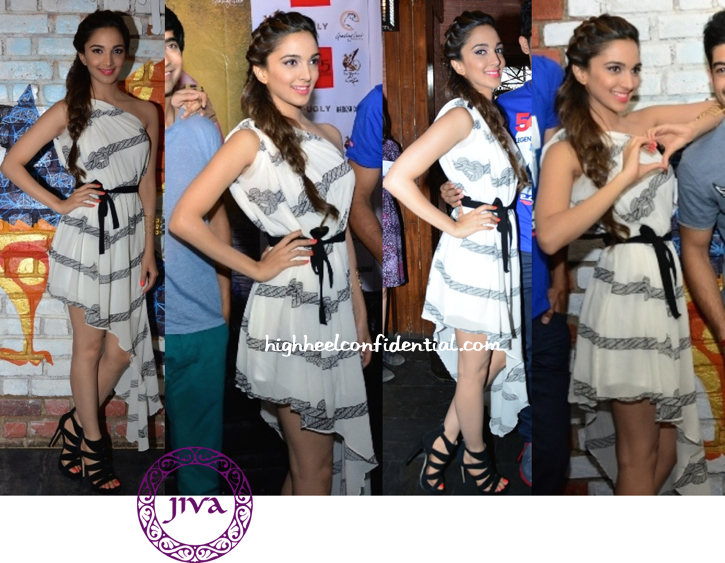 Kiara Advani In Urvashi Joneja At 'Fugly' Promotions In Bangalore