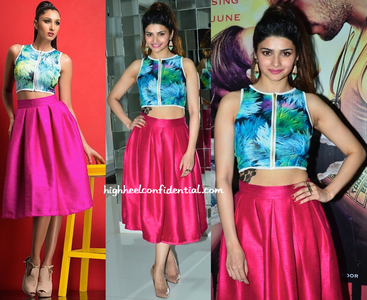 Prachi Desai In Nitya Bajaj To 'Ek Villain' Promotions-1