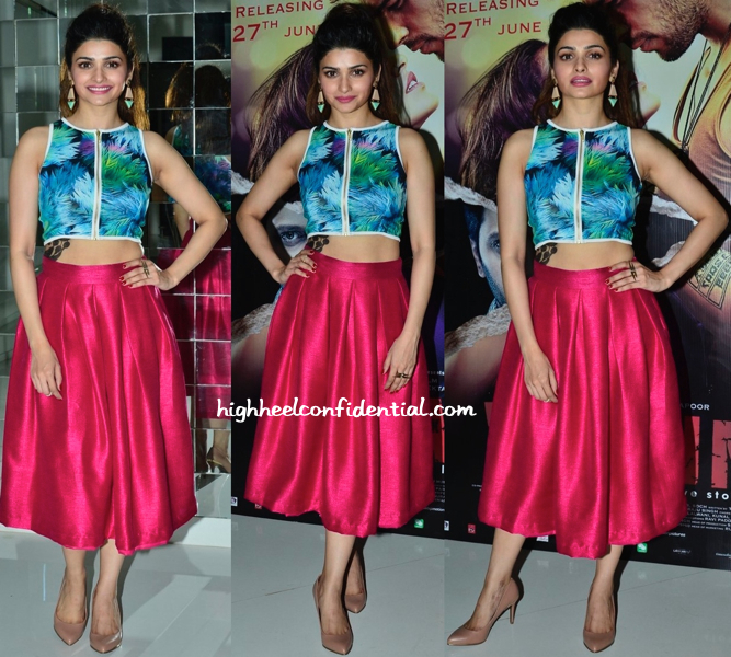 Prachi Desai In Nitya Bajaj To 'Ek Villain' Promotions-2