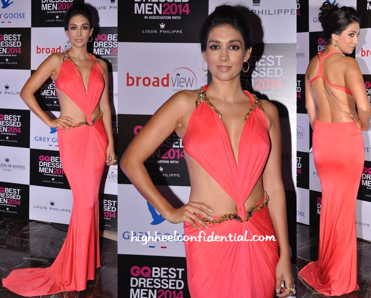 Preeti Desai In Gaurav Gupta At GQ Best Dressed Men 2014