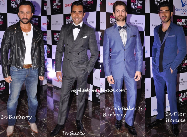 Rahul Khanna, Saif Ali Khan, Shahid Kapoor, Abhay Deol, Ayushman Khurana And Others At GQ Best Dressed Men 2014-1