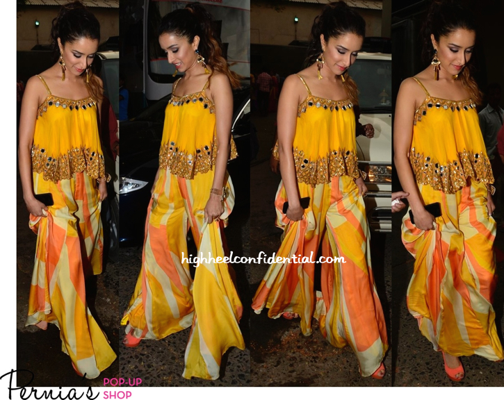 Shraddha Kapoor In Arpita Mehta And Outhouse Jewelry On 'JDJ' Sets For 'Ek Villain' Promotions-2