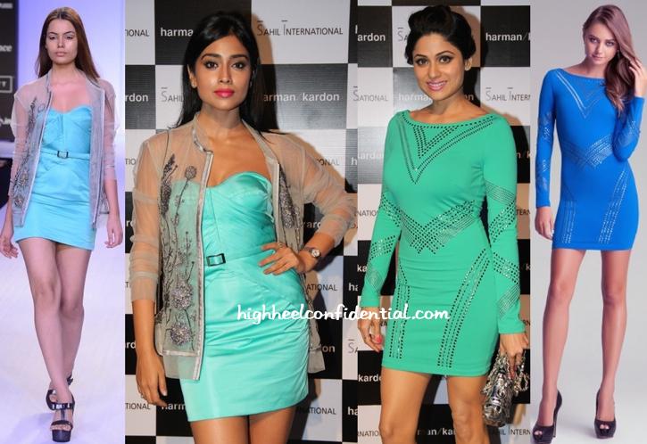 Shriya Saran In Rajat Tangri And Shamita Shetty In Bebe At Harman Kardon Sound Lounge Launch