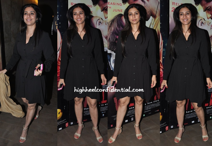 Tabu Photographed At 'Ek Villain' Screening