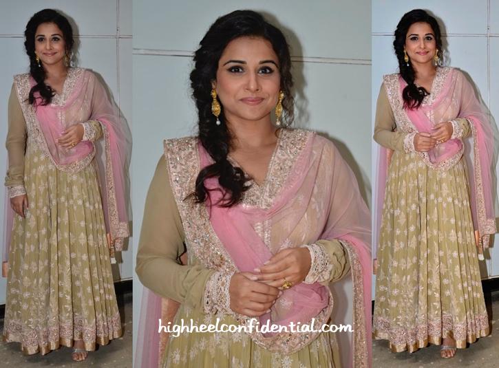 Vidya Balan In Manish Malhotra At Life OK Awards