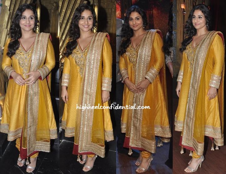 Vidya Balan In Ritu Kumar On entertainment ke liye kuch bhi karega sets For bobby jasoos-1