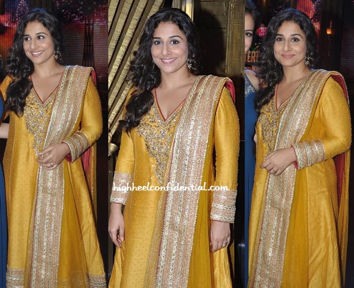 Vidya Balan In Ritu Kumar On entertainment ke liye kuch bhi karega sets For bobby jasoos-2