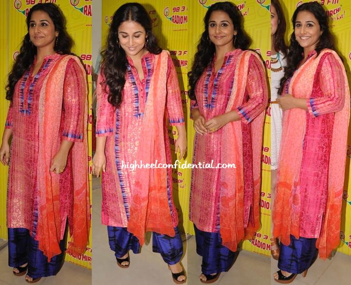 Vidya Balan Wears Krishna Mehta To 'Bobby Jasoos' Promotions