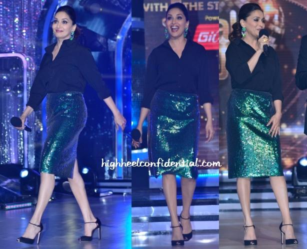 madhuri-dixit-hm-jhalak-dikhhla-ja-green-skirt