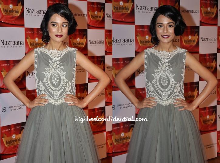 Amrita Rao In Rocky S At Gemfields Retail Jeweller India Awards 2014-2