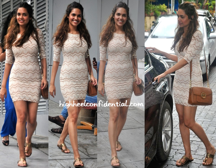 Esha Gupta Photographed Out And About. And That's A Michael Michael Kors Bag We Spy On Her