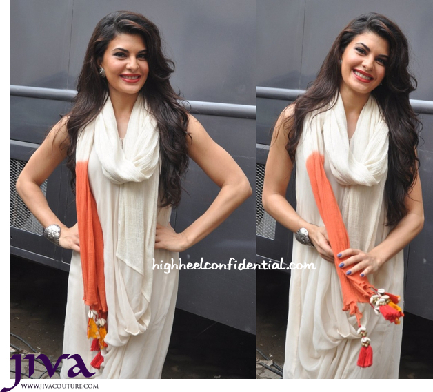 Jacqueline Fernandez Wears Nikasha To Kick Promotions-1