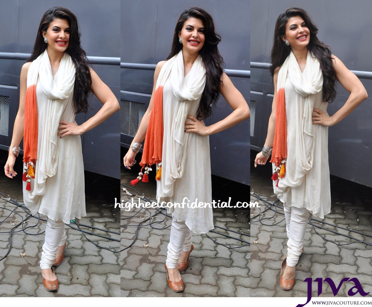 Jacqueline Fernandez Wears Nikasha To Kick Promotions-2