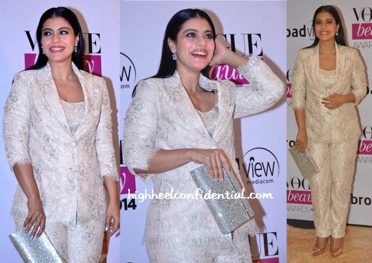 Kajol In Shehlaa By Shehla Khan At Vogue Beauty Awards 2014-1