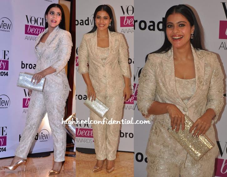 Kajol In Shehlaa By Shehla Khan At Vogue Beauty Awards 2014-2