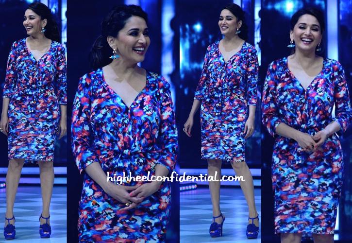 Madhuri Dixit Wears Saloni And Nicholas Kirkwood On Jhalak Dikhhla Jaa Sets-1