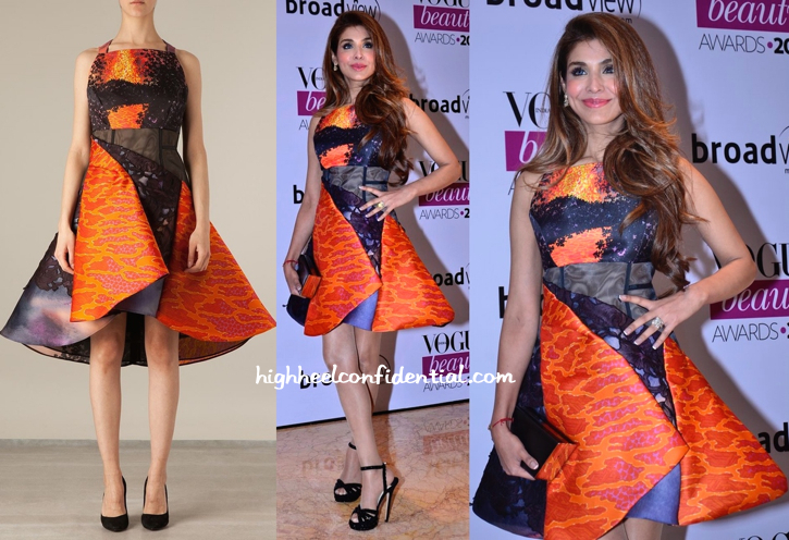 Niamat Bakshi In Peter Pilotto At Vogue Beauty Awards 2014