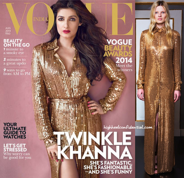Wearing Emilio Pucci, Twinkle Khanna Covers Vogue's Latest Issue