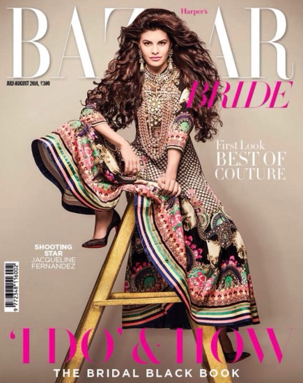 jacqueline-fernandez-on-bazaar-bride-manish-arora-july-2014