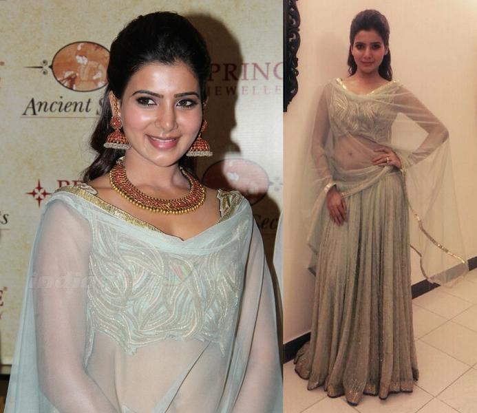 samantha at ritika mirchandani at prince jewelry store launch