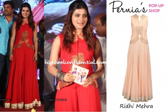 samantha-prabhu-lovers-audio-launch-ridhi-mehra