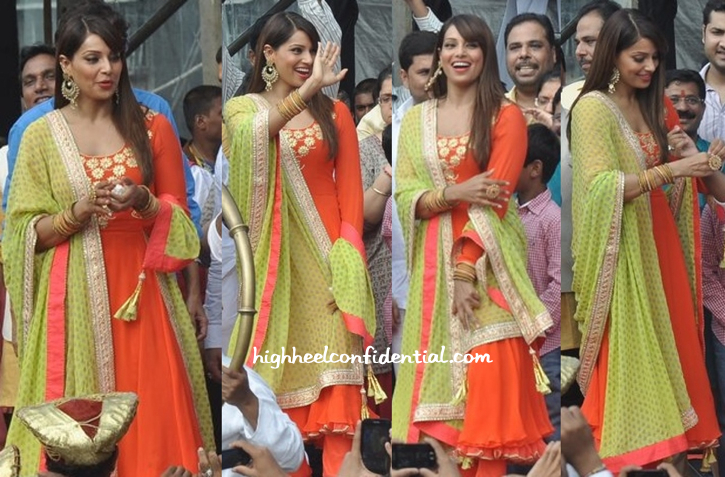 Bipasha Basu In Nikasha At Janmashtami Celebrations-1