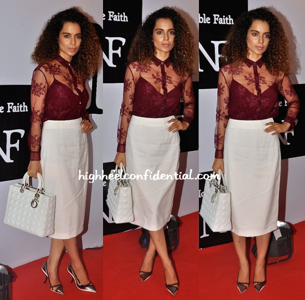 Kangna Ranaut In Burberry And Dior At Noble Faith Launch