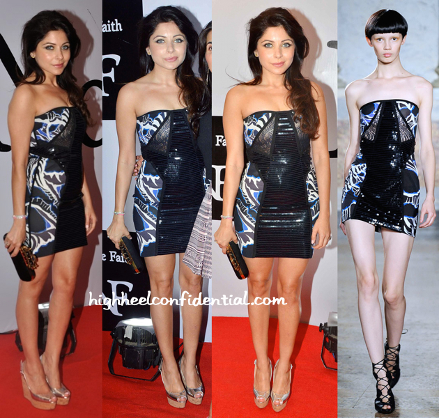 Kanika Kapoor In Emilio Pucci At The Recent Fashion Label Launch