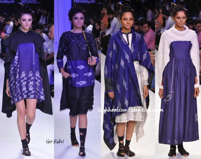 Lakme Fashion Week Winter:Festive 2014- Debashri Samanta-1