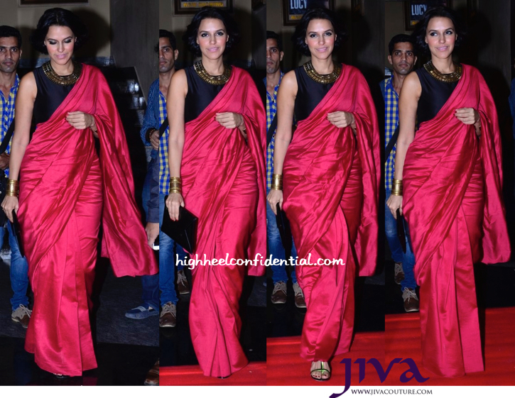 Neha Dhupia In Payal Singhal At 'Ekkees Toppon Ki Salaami' Trailer Launch-1