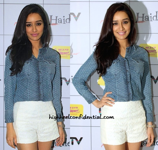 Shraddha Kapoor Wears GAS And Zara To 'Haider' Promotions-2