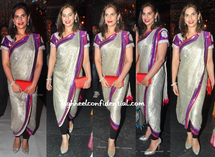 Upasana Kamineni In Anamika Khanna And Dior At Prakash Rao Wedding Reception