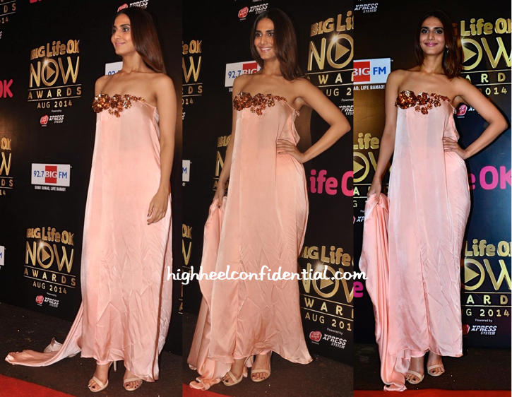 Vaani Kapoor In Nikhil Thampi At Life OK Awards 2014-1