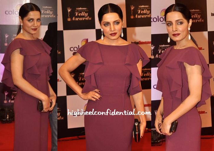 Celina Jaitly In Gauri And Nainika At Indian Telly Awards 2014-2